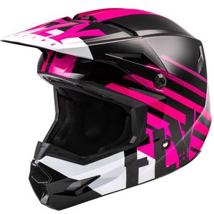 Casque cross KINETIC THRIVE PINK BLACK WHITE ENFANT  Pink Black