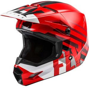 Casque cross KINETIC THRIVE RED WHITE BLACK ENFANT  Red Black