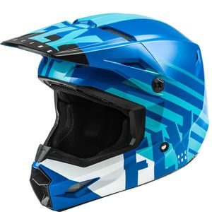 Casque cross KINETIC THRIVE BLUE WHITE ENFANT  Blue/White