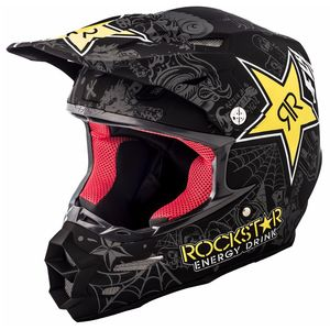Casque cross F2 CARBON ROCKSTAR -  2018 Noir/Jaune