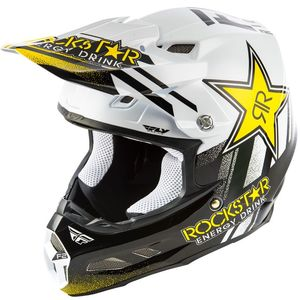 Casque cross F2 CARBON MIPS - ROCKSTAR - BLACK WHITE 2019 Black White