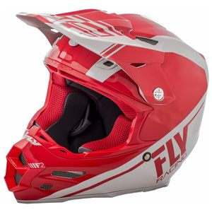 Casque Cross Fly F2 Carbon Rewire - Blanc Rouge - 2018
