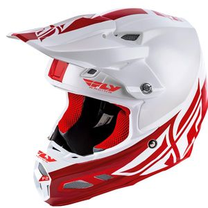 Casque cross F2 CARBON MIPS - SHIELD - WHITE RED 2020 White Red