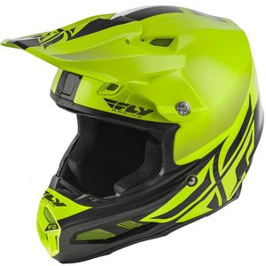 Casque Cross Fly F2 Carbon Mips - Shield - Hi-vis Black 2019