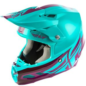 Casque Cross Fly F2 Carbon Mips - Shield - Seafoam Port 2019