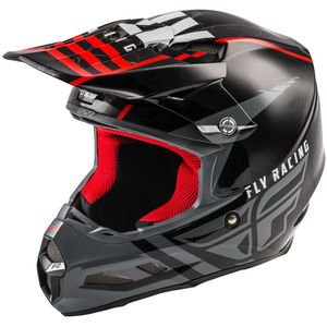 Casque cross F2 CARBON MIPS - GRANITE RED BLACK WHITE 2020 Red Black