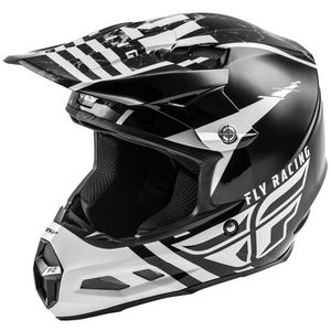 Casque cross F2 CARBON MIPS - GRANITE WHITE BLACK GREY 2020 White Black