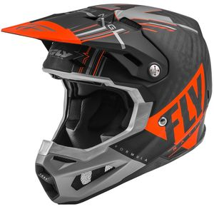 Casque cross FORMULA CARBON VECTOR - ORANGE GREY BLACK MATT 2021 Orange Black