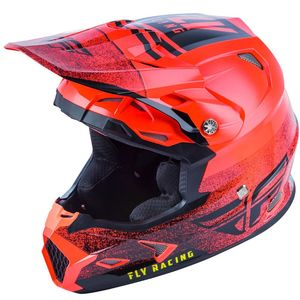 Casque cross TOXIN MIPS - EMBARGO - NEON RED ENFANT  Neon Red