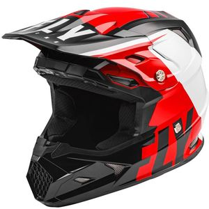 Casque cross TOXIN TRANSFER MIPS - RED BLACK WHITE ENFANT  Red Black