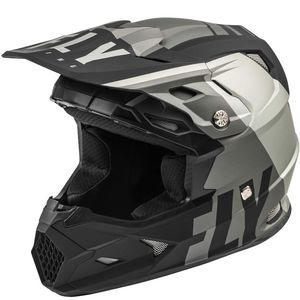 Casque cross Fly TOXIN TRANSFER MIPS KID - MATT GREY BLACK 2021