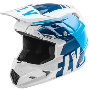 Casque cross TOXIN TRANSFER MIPS - MATTE BLUE WHITE ENFANT  Blue/White