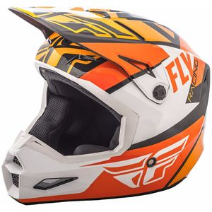 Casque cross ELITE GUILD - ORANGE WHITE BLACK 2019 Orange/Blanc