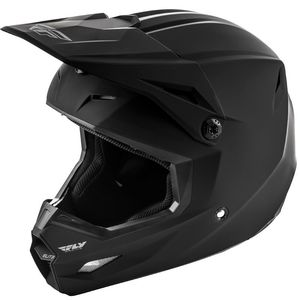 Casque Cross Fly Kid Elite - Solid - Matte Black 2019