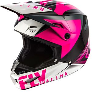 Casque Cross Fly Kid Elite - Vigilant - Pink Black 2019
