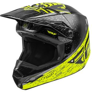 Casque cross KINETIC K120 HI-VIS GREY BLACK ENFANT  HI-VIS Black
