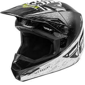 Casque cross KINETIC K120 BLACK WHITE HI-VIS ENFANT  Black White