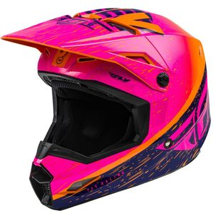 Casque cross KINETIC K120 ORANGE PINK BLACK ENFANT  Pink Black