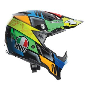 Casque cross AX-8 EVO REPLICA CHAREYRE 2017 Multicolore