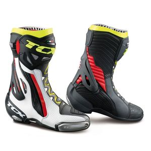 Bottes RT RACE PRO AIR  Blanc/Rouge/Jaune Fluo