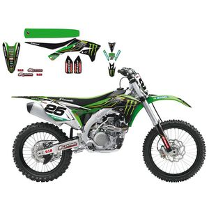 Kit déco + housse de selle Kawasaki Replica Team Monster energy