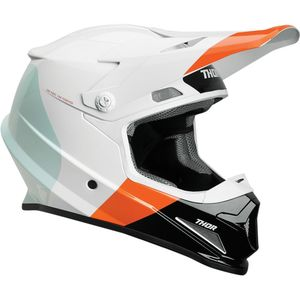 Casque Cross Thor Sector Bomber Mips White Red Orange 2019