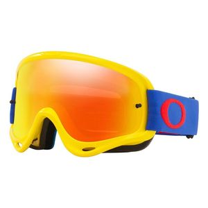 Masque cross O Frame MX jaune/bleu écran Fire Iridium + transparent 2021 Jaune/Bleu
