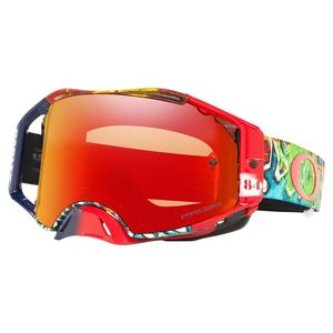 Masque cross Airbrake MX Jeffrey Herlings Signature Series Graffito écran Prizm MX Torch Iridium rouge 2021 Rouge/bleu