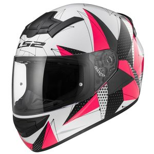 Casque FF352 ROOKIE BRILLANT  Blanc/Rose