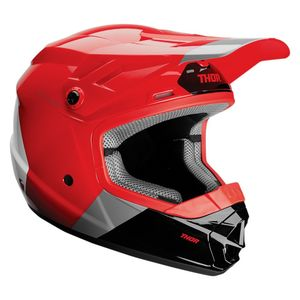 Casque cross YOUTH SECTOR BOMBER - RED CHARCOAL - MIPS  Rouge Gris