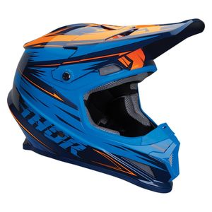 Casque cross SECTOR - WARP - NAVY ELECTRIC 2020 Bleu/Orange