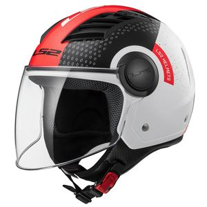 Casque OF562 - AIRFLOW L - CONDOR  Blanc/Noir/Rouge