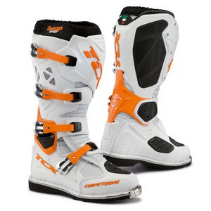 Bottes cross COMP EVO BLANC/ORANGE 2019 Blanc/Orange