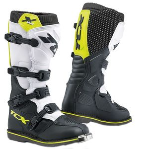 Bottes cross X-BLAST - WHITE BLACK YELLOW FLUO 2020 Blanc Jaune
