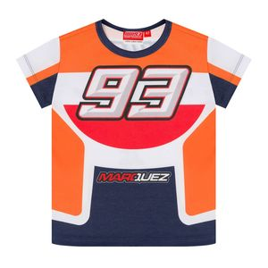 T-Shirt manches courtes MARC MARQUEZ KID RACE  Orange Navy