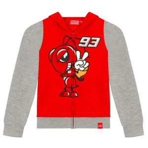 Sweat MARC MARQUEZ KID ZIPPED  Grey Red