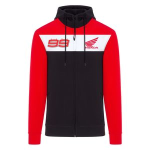 Sweat HRC ZIPPED - JORGE LORENZO  Grey White Red
