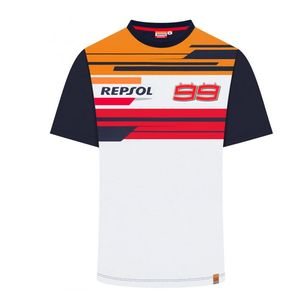 T-Shirt manches courtes REPSOL - JORGE LORENZO  Navy Orange Red