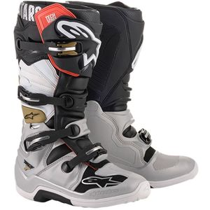Bottes cross TECH 7 - BLACK SILVER WHITE GOLD 2020 Black Silver