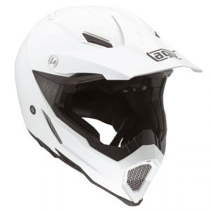 Casque cross AX-8 EVO - MONO 2018 White