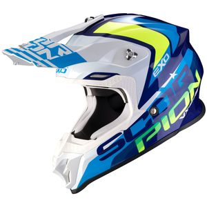 Casque cross VX-16 AIR - NATION - BLUE WHITE NEON YELLOW 2020 Blue - Neon Yellow