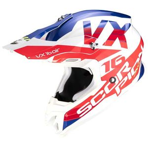 Casque cross VX-16 AIR - X-TURN - WHITE RED 2021 White Red