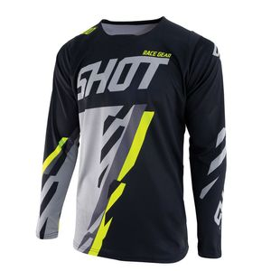 Maillot cross CONTACT SCORE -BLACK GREY NEON YELLOW 2019 Black Grey Neon Yellow