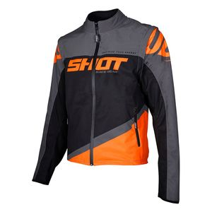 Veste enduro SOFTSHELL LITE - GREY NEON ORANGE 2020 Grey Neon Orange