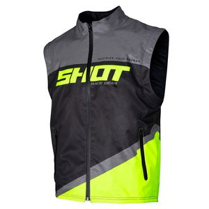 Veste enduro BODYWARMER LITE - GREY NEON YELLOW 2020 Grey Neon Yellow