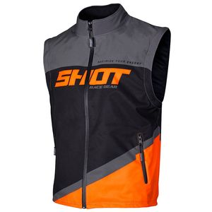 Veste enduro BODYWARMER LITE - GREY NEON ORANGE 2020 Grey Neon Orange