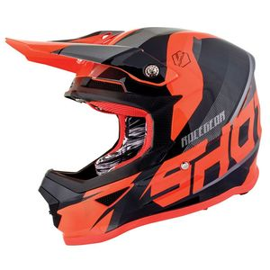 Casque Cross Shot Furious Kid Ultimate - Black Neon Orange Glossy 2019