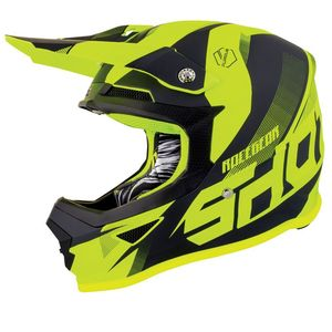 Casque cross FURIOUS KID ULTIMATE - NEON YELLOW GLOSSY  Neon Yellow