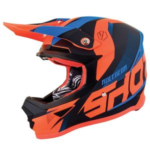 Casque Cross Shot Furious Kid Ultimate - Blue Neon Orange 2019