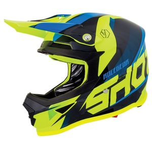 Casque Cross Shot Furious Kid Ultimate - Blue Neon Yellow 2019